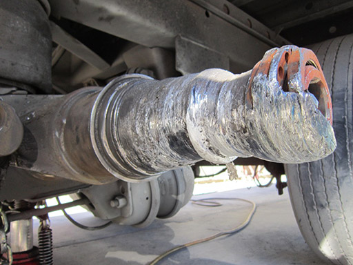 Damaged Axle Spindle