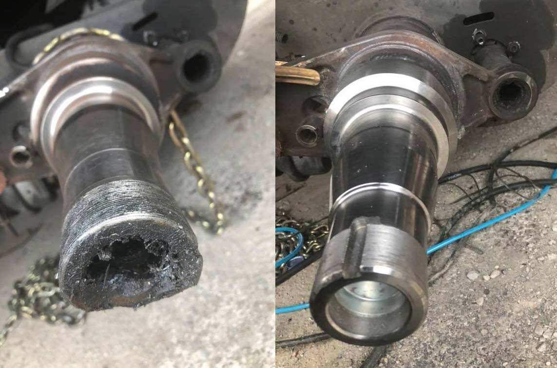 axle spindle replace